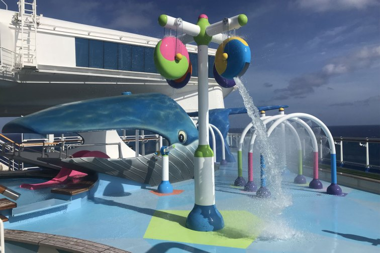 Caribbean Princess Splash Pad; Courtesy of Family Vacation Critic