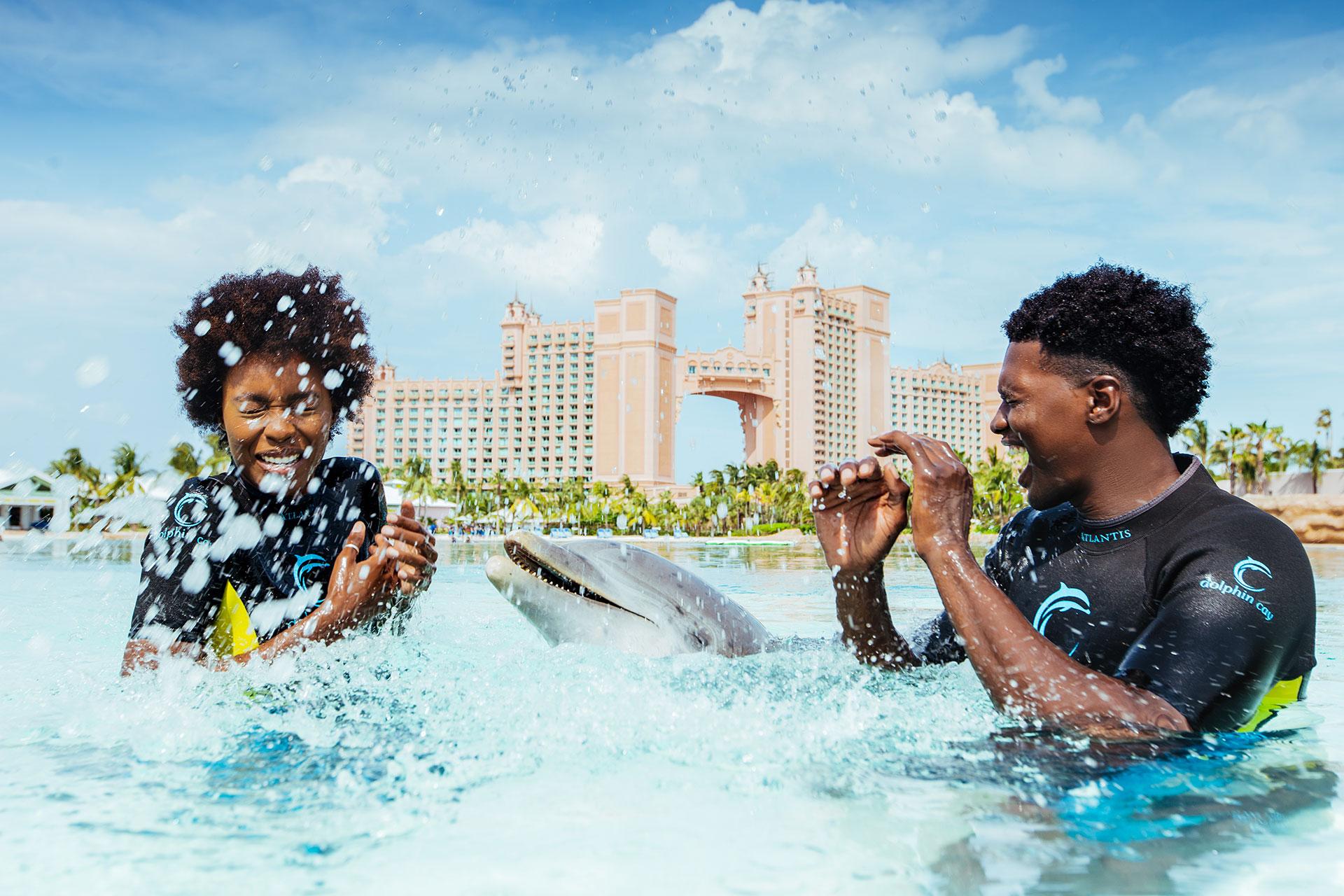 Dolphin Cay at Atlantis Resort in the Bahamas; Courtesy of Atlantis