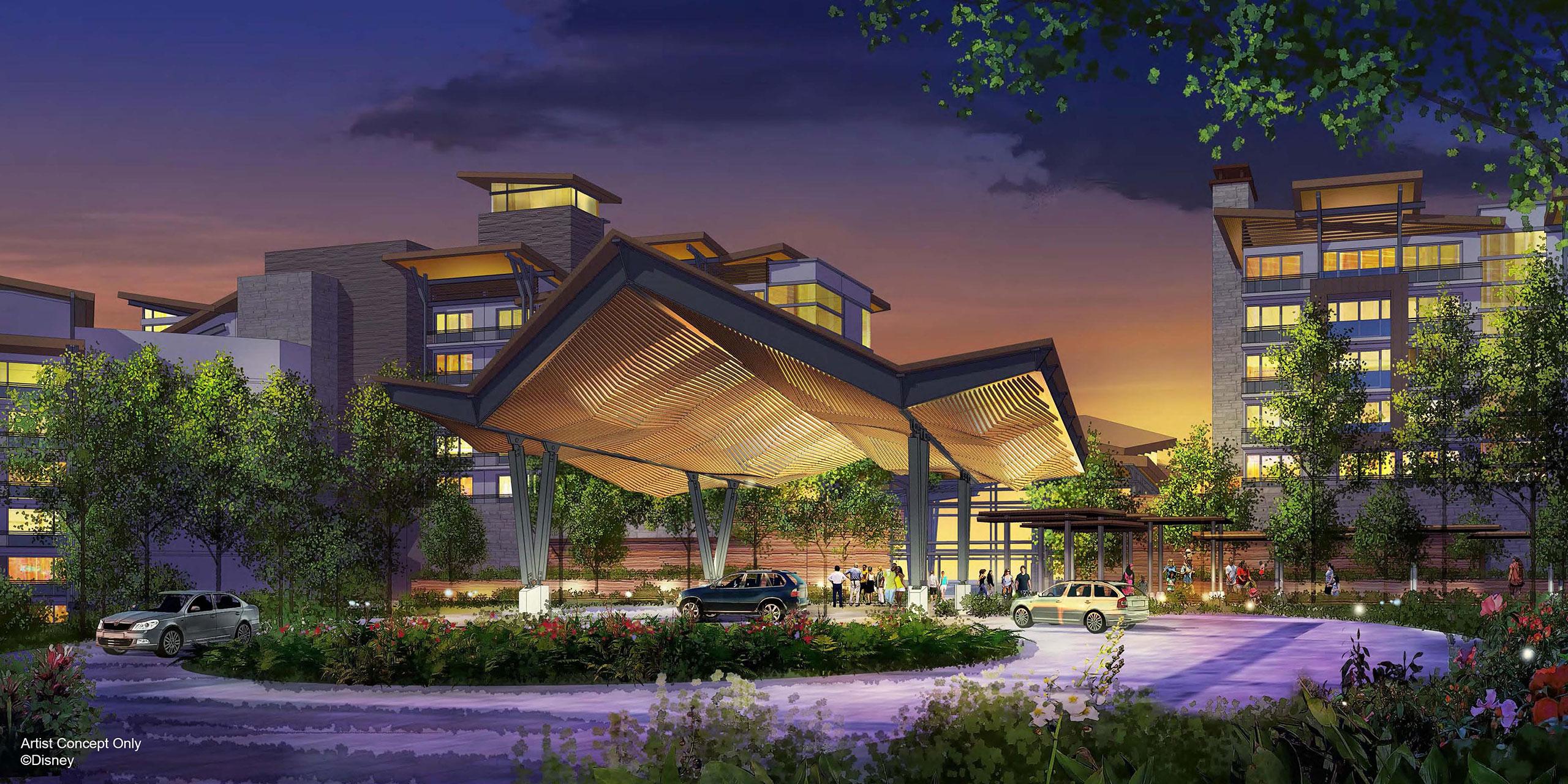 Rendering of New Disney World Resort; Courtesy of Disney