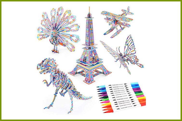 3D Coloring Puzzle Set; Courtesy of Amazon