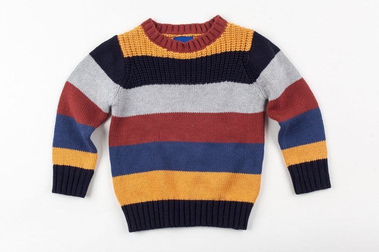 Boy's Striped Sweater; Courtesy of Michael Dechev/Shutterstock.com