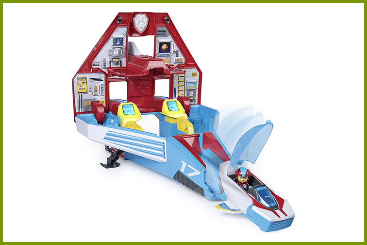 Paw Patrol Mighty Pups 2-in-1 Jet Command Center; Courtesy of Amazon