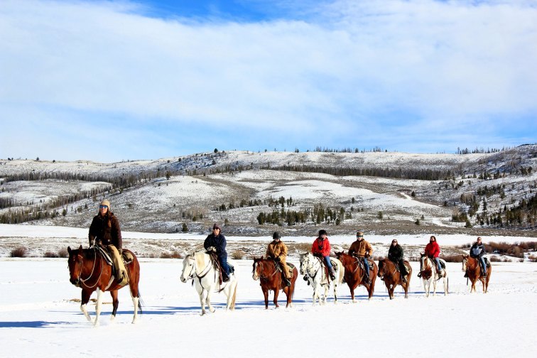Winter Horseback Riding at C U Lazy Ranch in Granby, CO