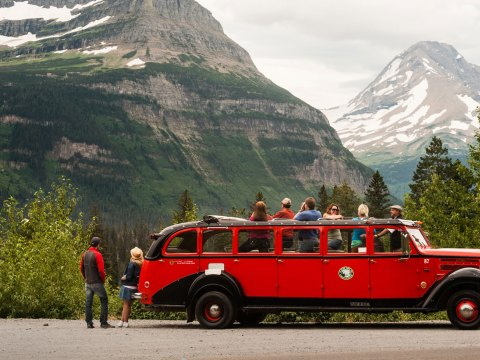 Red Jammer Tour in Glacier National Park