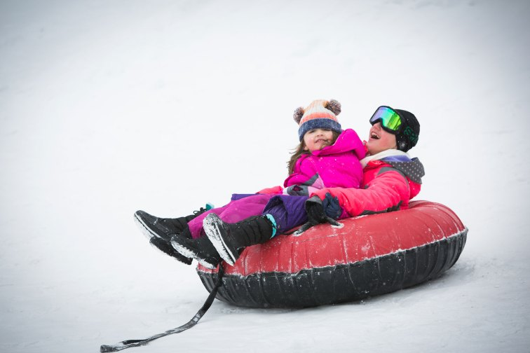 Snow Tubing at Woodloch Pines in Hawley, PA