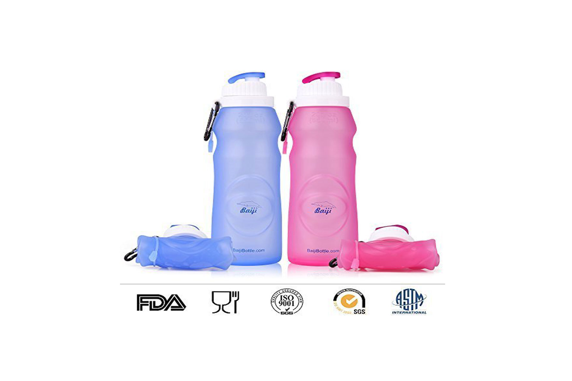 Baiji collapsible water bottle; Courtesy of Amazon