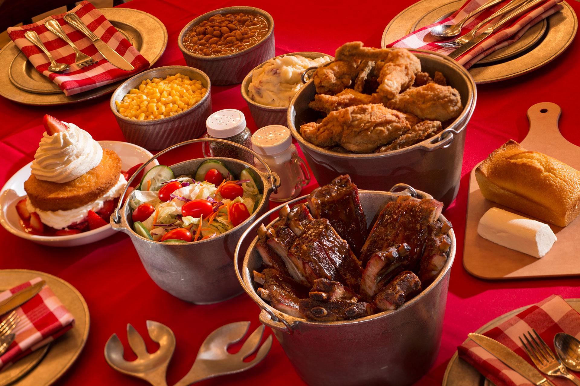 Food at Disney's Hoop Dee Doo Revue Show; Courtesy of Disney