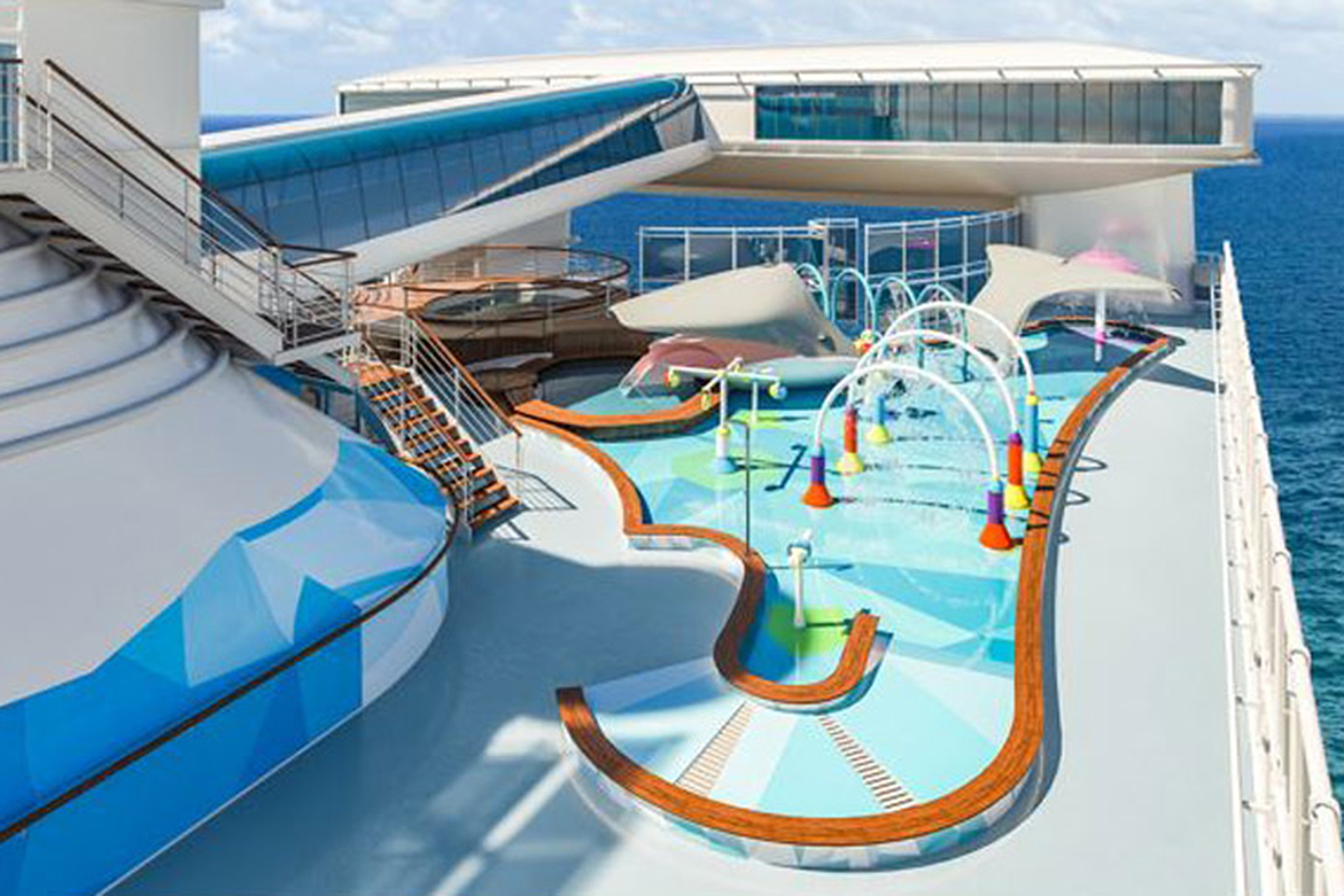 Rendering of Reef Family Splash Zone on Princess Cruises' Caribbean Princess; Courtesy of Princess Cruises