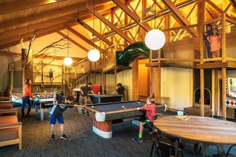 Game Room at Rush Creek Lodge; Courtesy of Rush Creek Lodge