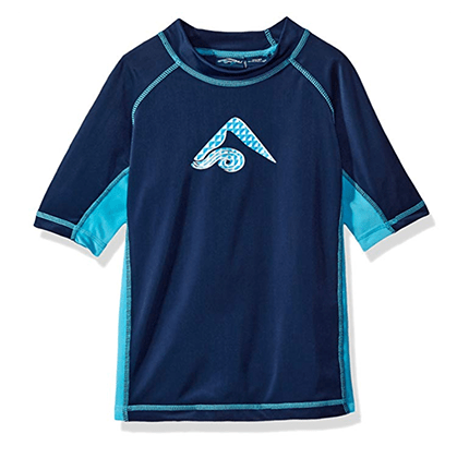 Blue rash guard top for boys