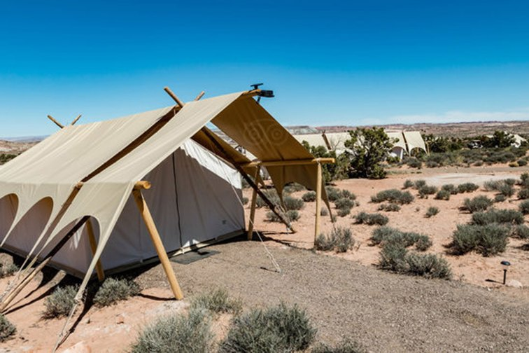 Tents at Under Canvas Moab in Utah