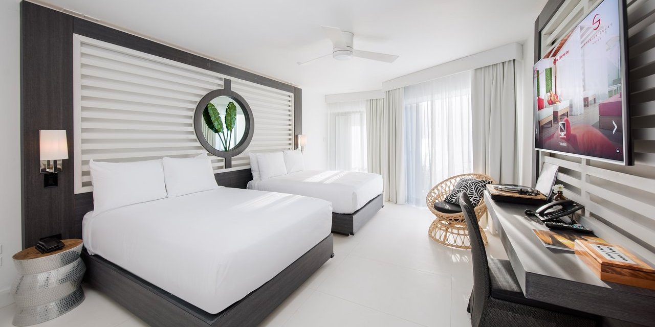 S Hotel Jamaica Guestroom; Courtesy of S Hotel Jamaica