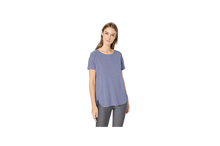 Amazon Essentials Women's Studio Relaxed-Fit Crewneck T-Shirt in Purple