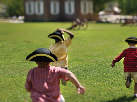 Kids in Colonial Williamsburg; Courtesy of Visit Williamsburg