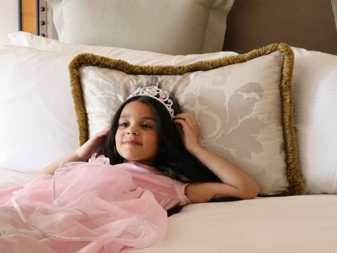 Little Girl Dressed as Princess at Lotte Palace in New York City; Courtesy of Lotte Palace