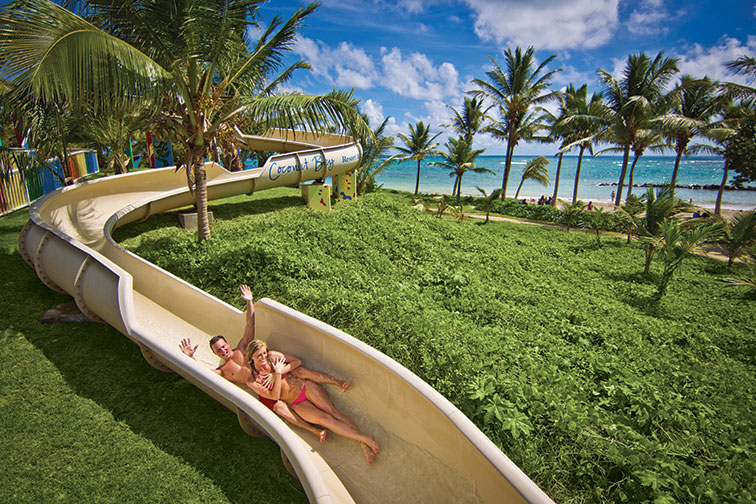 Waterslide at Coconut Bay Beach Resort and Spa in St. Lucia