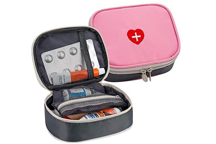 Portable Mini First Aid Kit, Multifunction Travel Medicine Storage Bag; Courtesy of Amazon