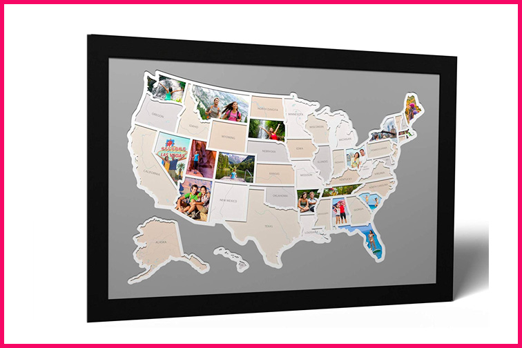 50 States USA Photo Map; Courtesy of Amazon
