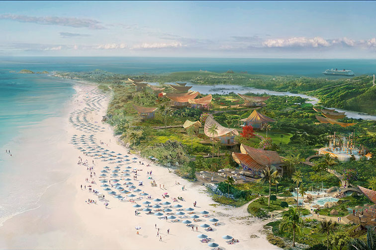 Rendering of Disney's Lighthouse Point in The Bahamas