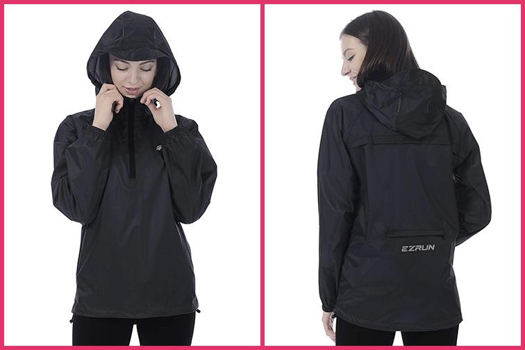 EZRUN Women's Waterproof Hooded Rain Jacket; Courtesy of Amazon