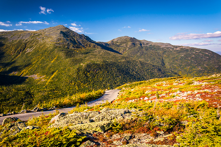 The Mount Washington Auto Road, near Gorham, New Hampshire.; Courtesy of Jon Bilous/Shutterstock