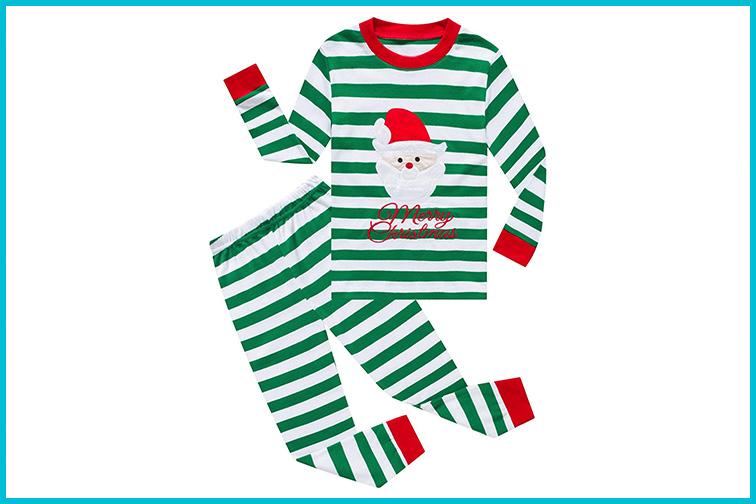 Kiki Zoe Long Sleeve Christmas Pajamas Sets; Courtesy of Amazon