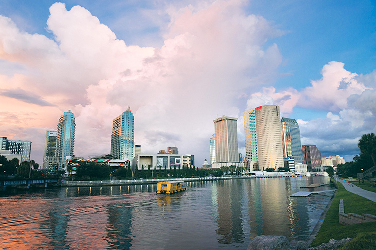 tampa downtown skylines; Courtesy of Tampa CVB