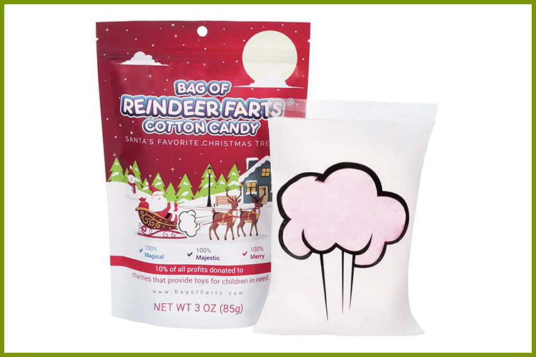 Bag of Reindeer Farts Cotton Candy; Courtesy of Amazon