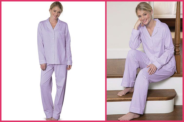 PajamaGram Pajama Set for Women – Cotton Jersey Women's Pajamas; Courtesy of Amazon