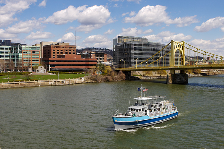 Discovery Science Boat of the Voyager Fleet in Pittsburgh; Courtesy of Robert Pernell/Shutterstock