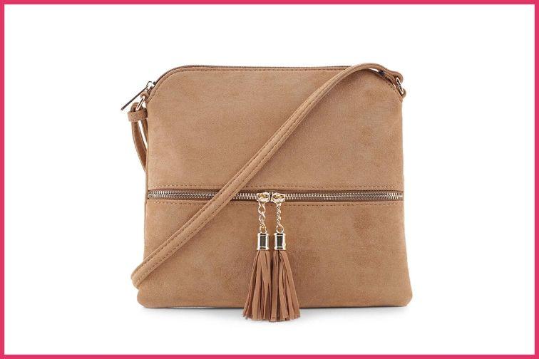 crossbody bag with tassels