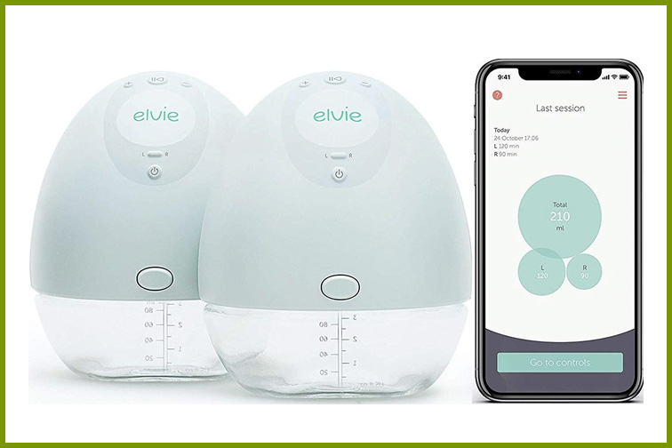 Elvie Pump Silent Wearable Breast Pump with App; Courtesy Amazon
