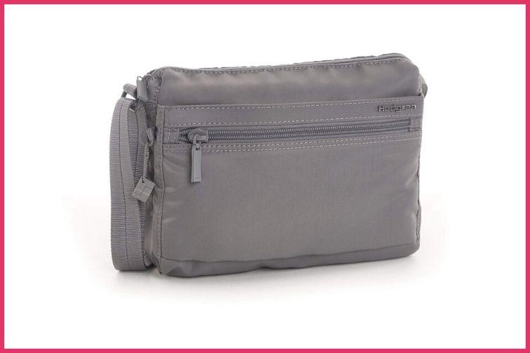 Hedgren Womens RFID Shoulder Titanium Bag