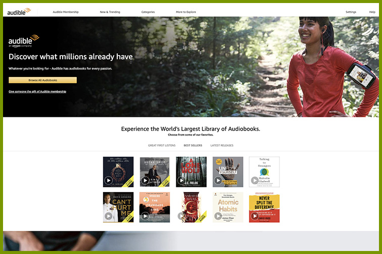 Amazon Audible Subscription; Courtesy Amazon