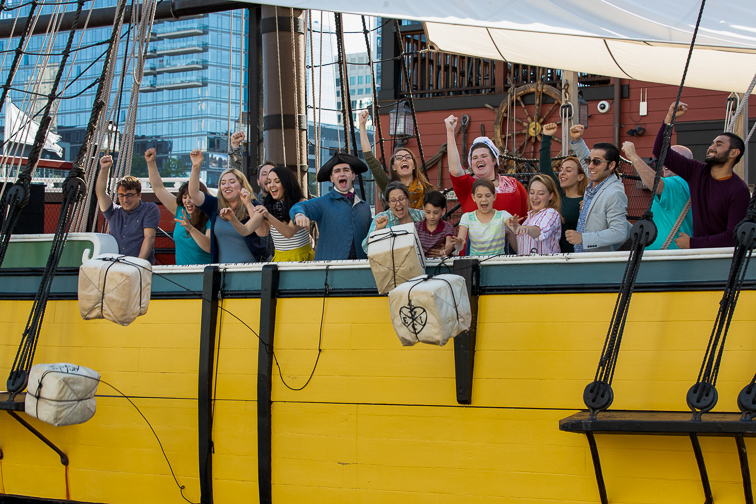 Boston Tean Party Ships Museum; Courtesy Michael Bnchard Photo/Boston Tea Party Ships Museum