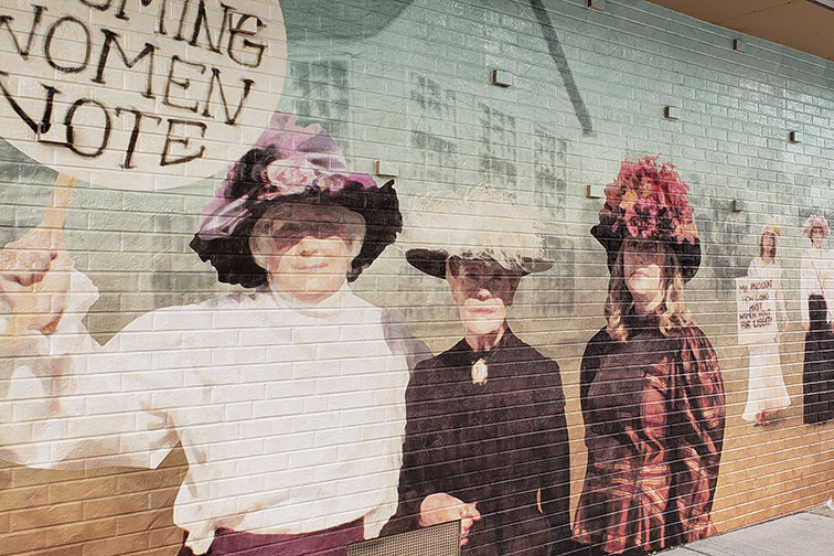Women's Rights Mural in Cheyenne, Wyoming