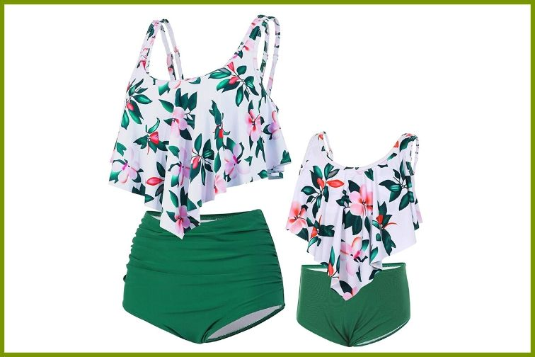 Dinigofin Ruffle Bikini Set