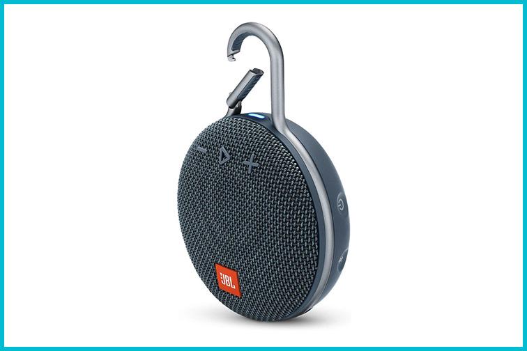 JBL Clip 3 Waterproof Bluetooth Travel Speaker; Courtesy Amazon