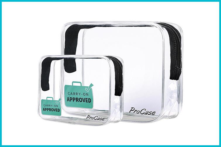 TSA approved toiletry bag; Courtesy Amazon