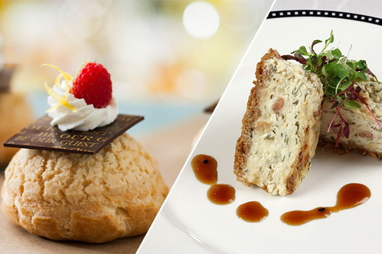 Be Our Guest Restaurant at Disney World and Shrimp and Caramelized Onion Cheesecake at Animator's Palate