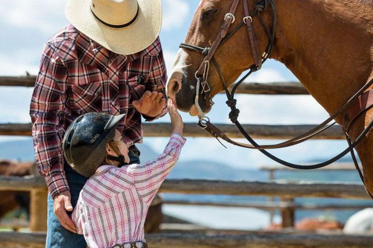 Horseback riding at 4UR Ranch; Courtesy of 4UR Ranch Resort