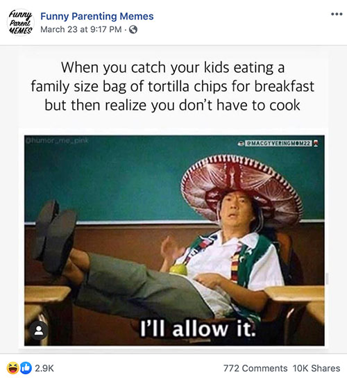 21 Quarantine Memes Only Parents Will Understand Family Vacation Critic