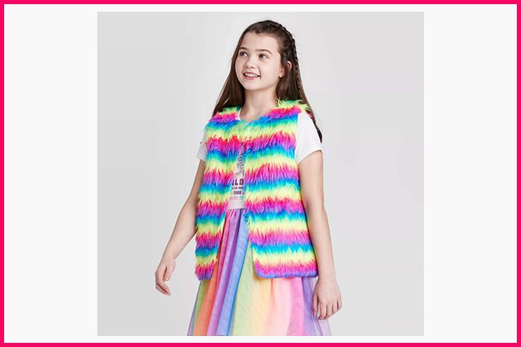 Girls Mini Trolls Vest; Courtesy Target