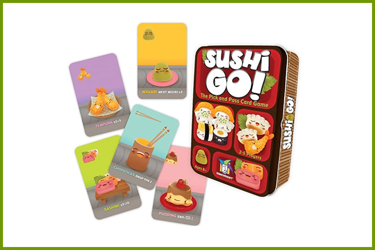 Sushi, Go! Family Card Game; Courtesy of Amazon