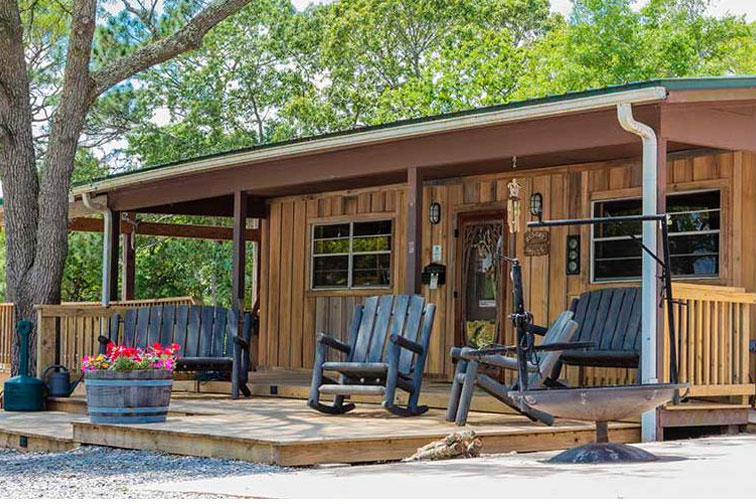 Cabin at Twin Lakes Camp Resort; Courtesy of Twin Lakes Camp Resort
