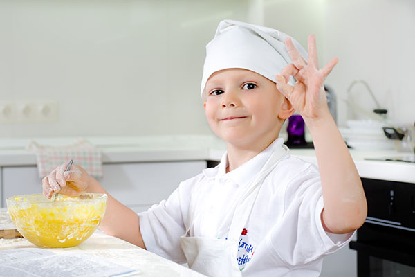This little chef loves hotel cooking classes.