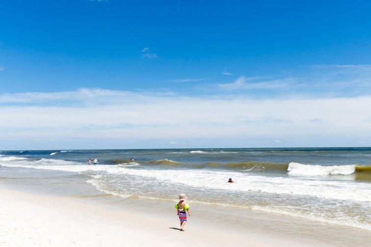 Little Boy on Beach in Gulf Shores, Alabama