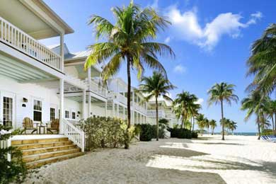 An exterior shot of Tranquility Bay Resort in the Florida Keys.