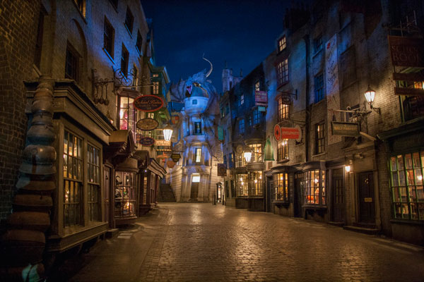 Diagon Alley at The Wizarding World of Harry Potter.