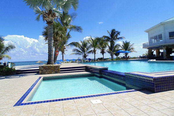 The pool at Divi Carina Bay Beach Resort & Casino in St. Croix.